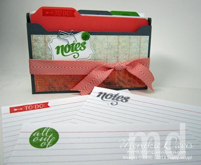 Paper Pumpkin Index Card Organizer Box - Monika Davis
