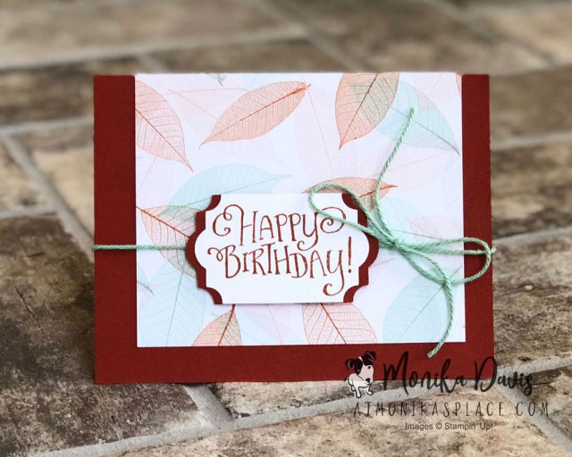 Happy Birthday Nature's Poem - Stamping Together At Monika's